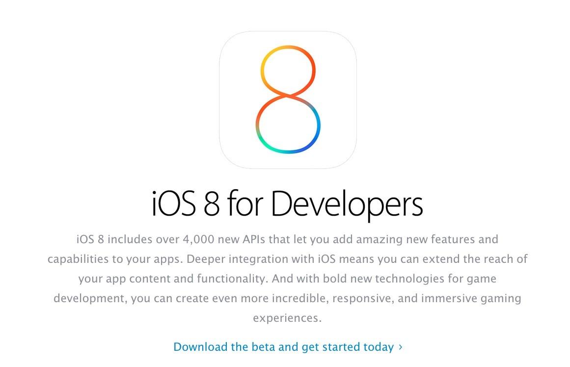 Apple Releases iOS 8 SDK
