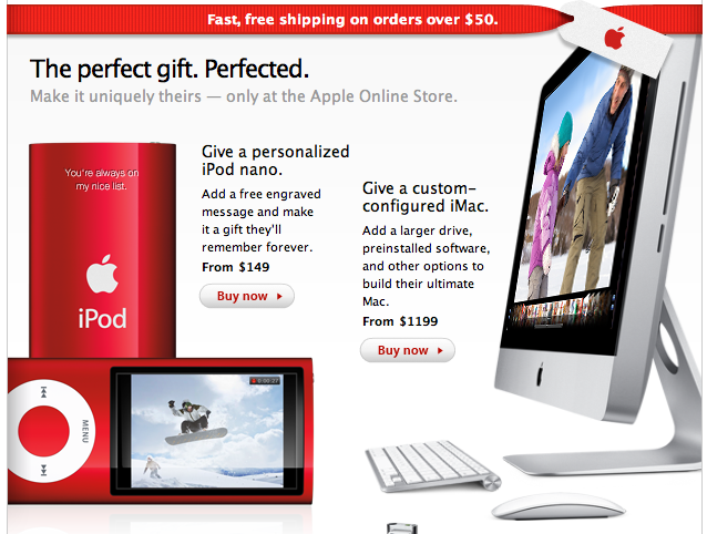 Apple Store Back Up with Holiday Offers