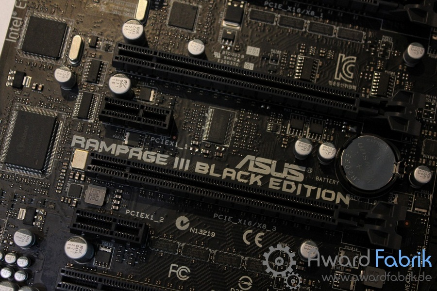 Asus Rampage III Black Edition Motherboard Showcased at