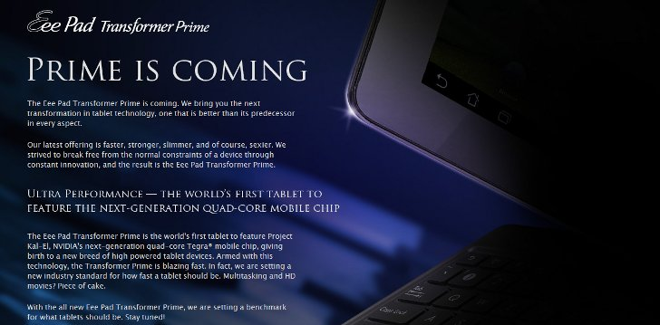 Asus Transformer Prime May Be Available In Both Gold And Silver