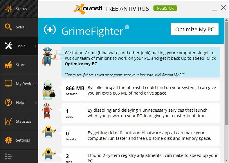 free download antivirus for windows xp