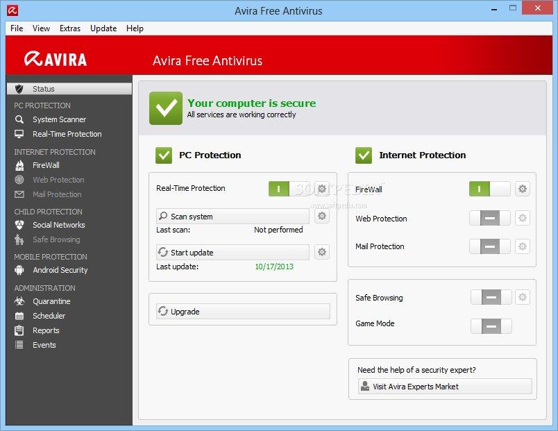 Avira antivirus 2013 free download softpedia.