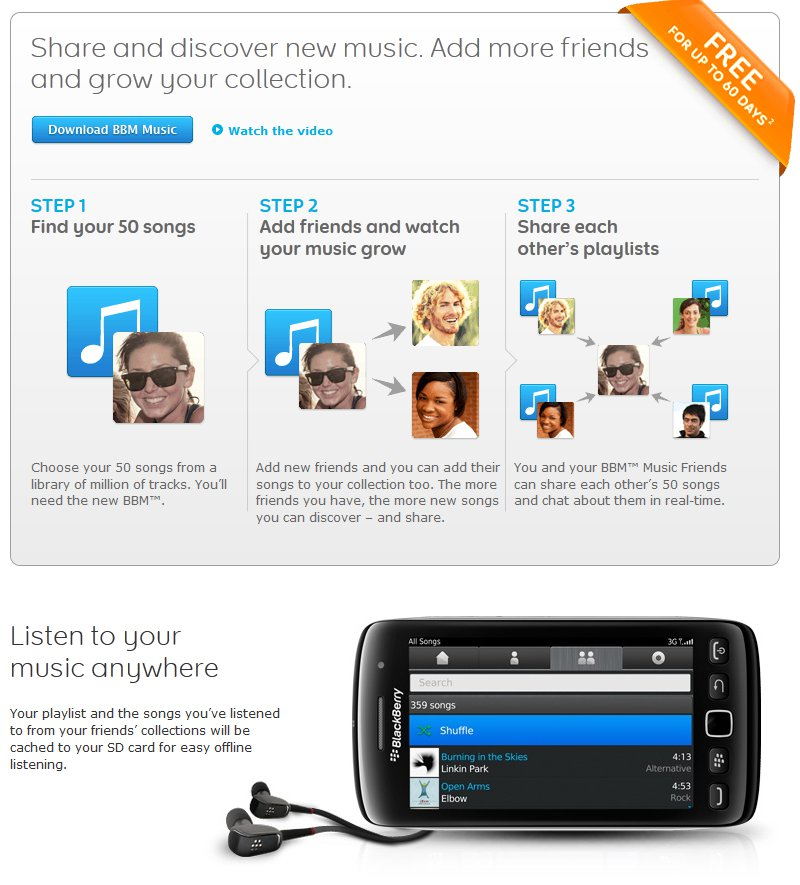 Rim launches bbm music now available on blackberry app world | n4bb.