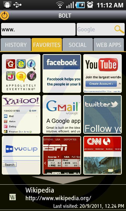 o navegador bolt
