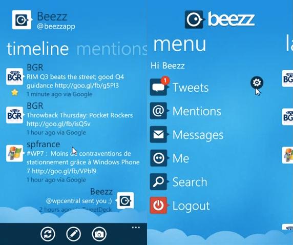 Beezz Twitter App for Windows Phone 7 to Get Major Update Soon