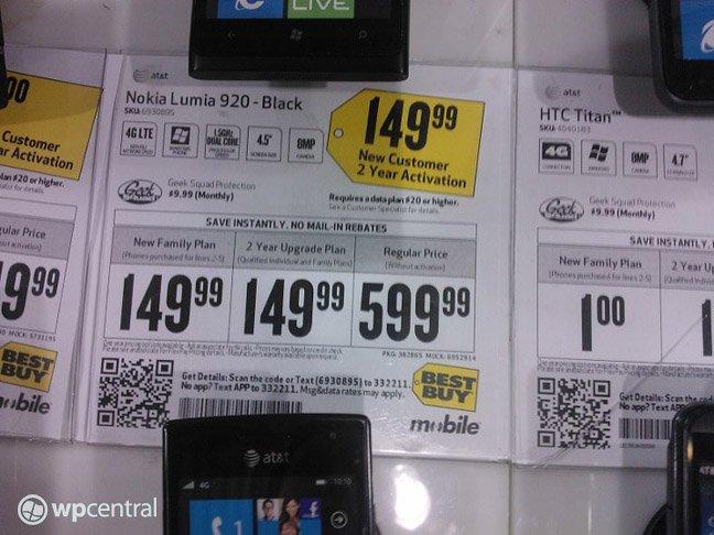 Nokia Lumia 920 Brief Specs