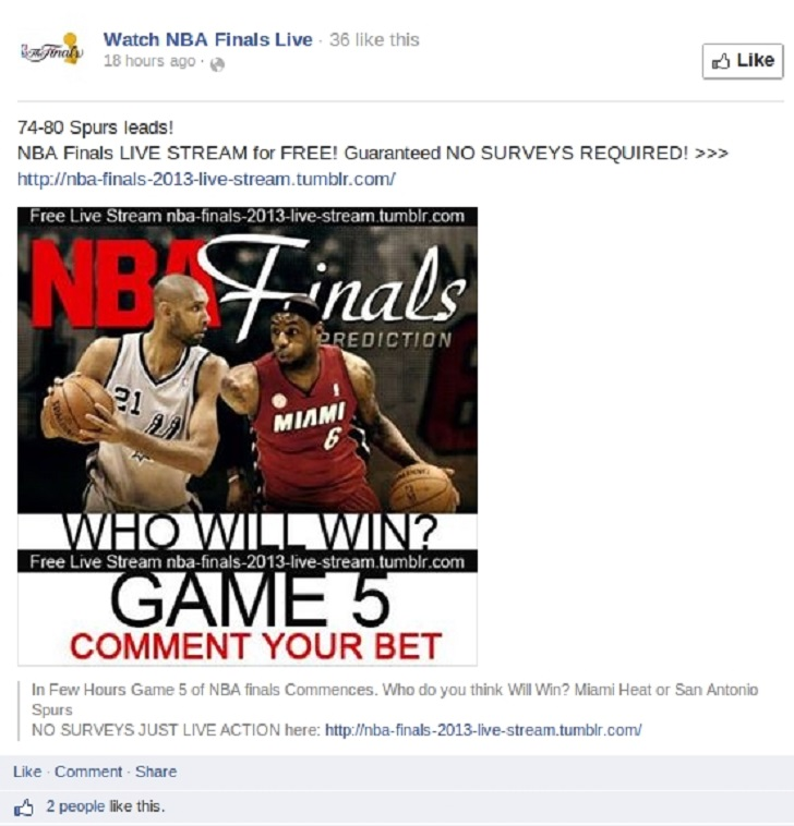 beware of nba finals live streaming scams