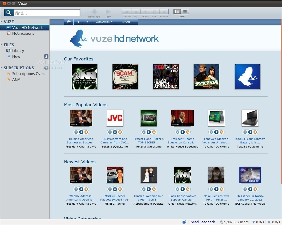 what is download for subscription vuze