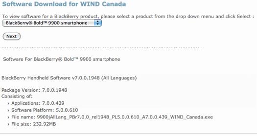 Screenshot blackberry 9900 download