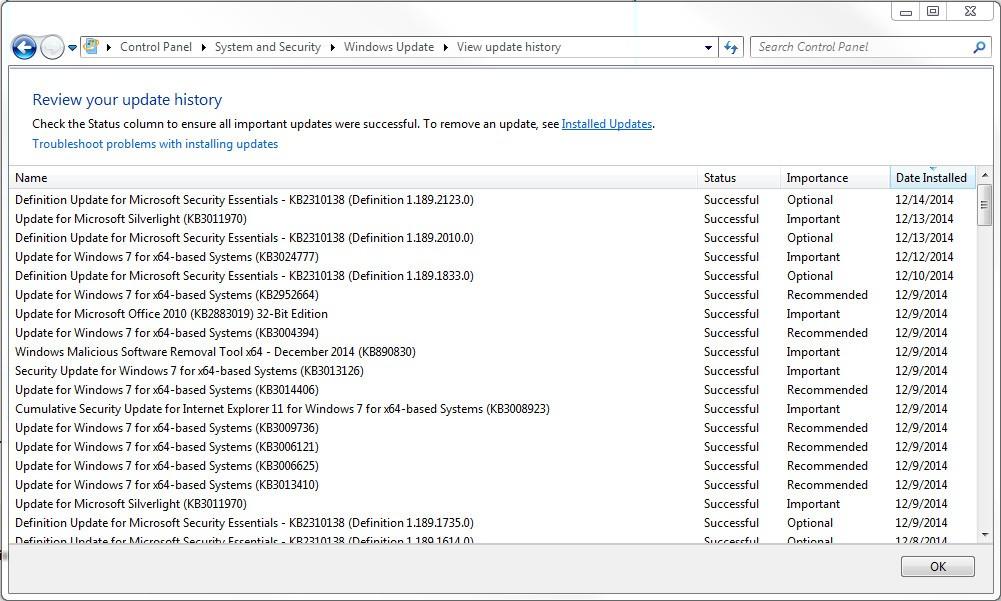 windows 7 update now says not genuine
