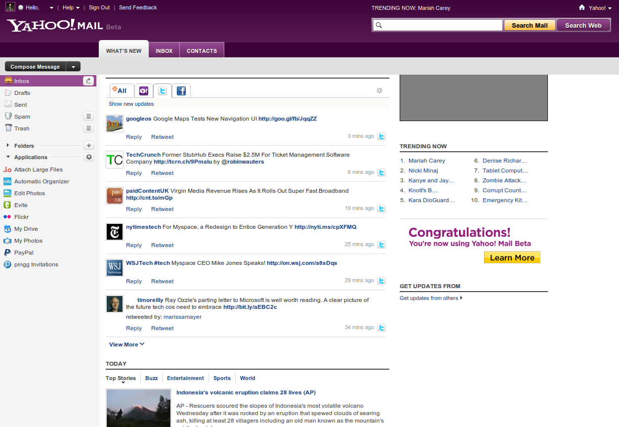 Brand new yahoo mail rolls out of beta the new yahoo mail stopboris Gallery