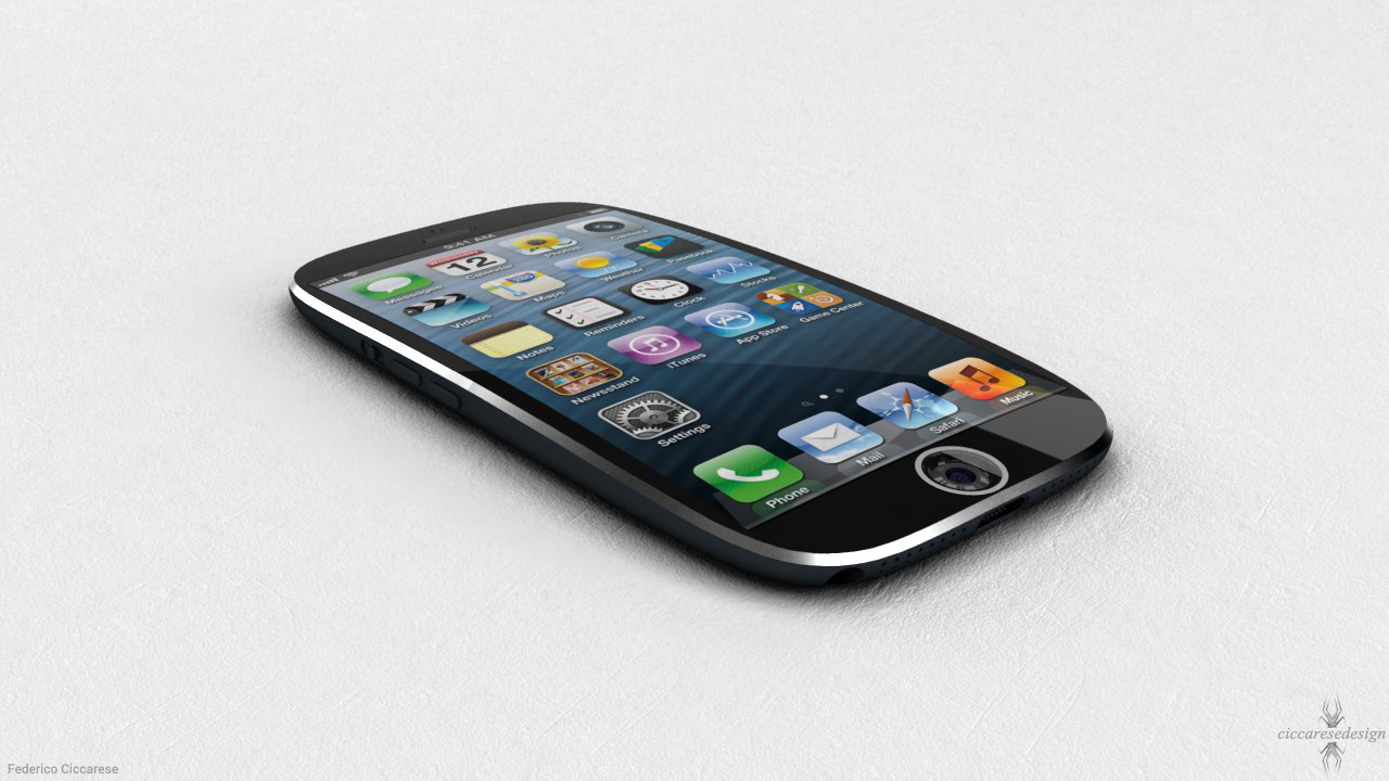 Brilliant iPhone 6 Design with Fingerprint Scanner and Curved Glass Envisioned