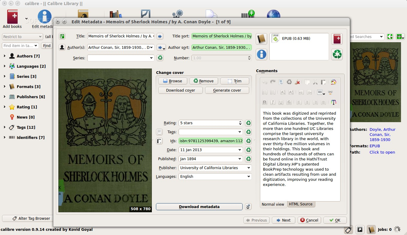 Calibre 0 9 17 Features Metadata and PDF Output Improvements