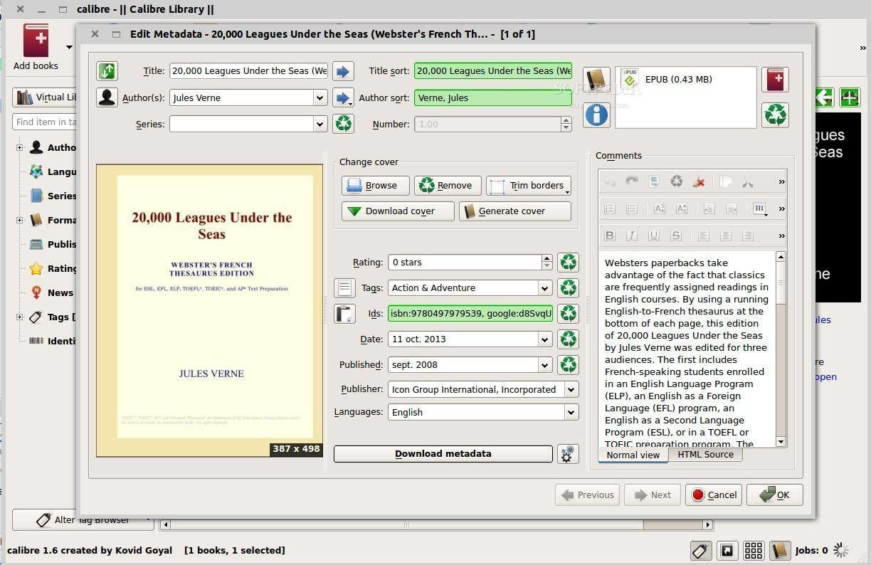 Calibre eBook Reader and Converter Version 1 48 Arrives with
