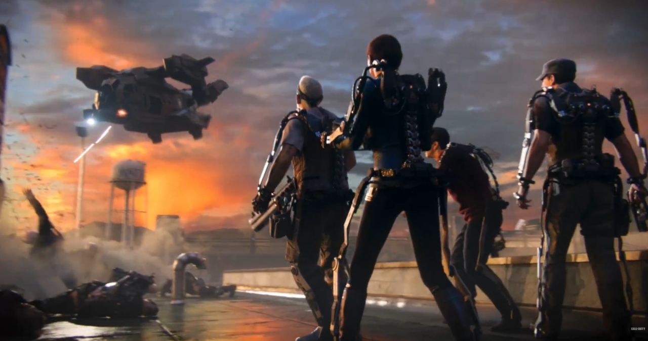 Call Of Duty Advanced Warfare Exo Zombies Trailer Shows Burgertown Action