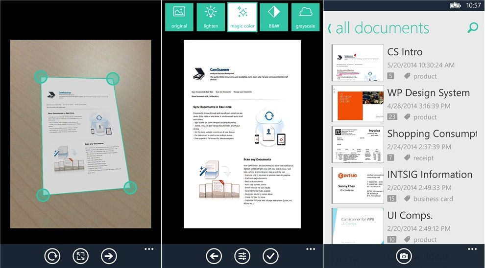 CamScanner 2.2.0.11 for Windows Phone Now Available for ...