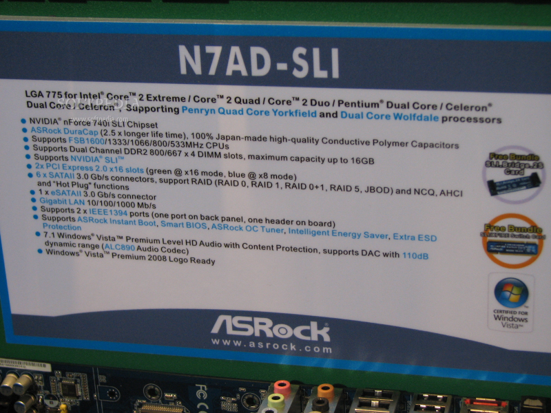 CeBIT 2009: ASRock Enables SLI and CrossFire on SLI Motherboard