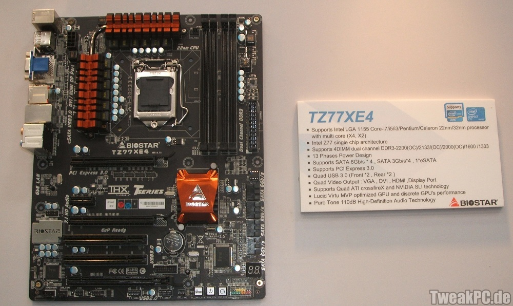 CeBIT 2012: Biostar Presents TZ77EX3 and TZ77EX4 Intel 7
