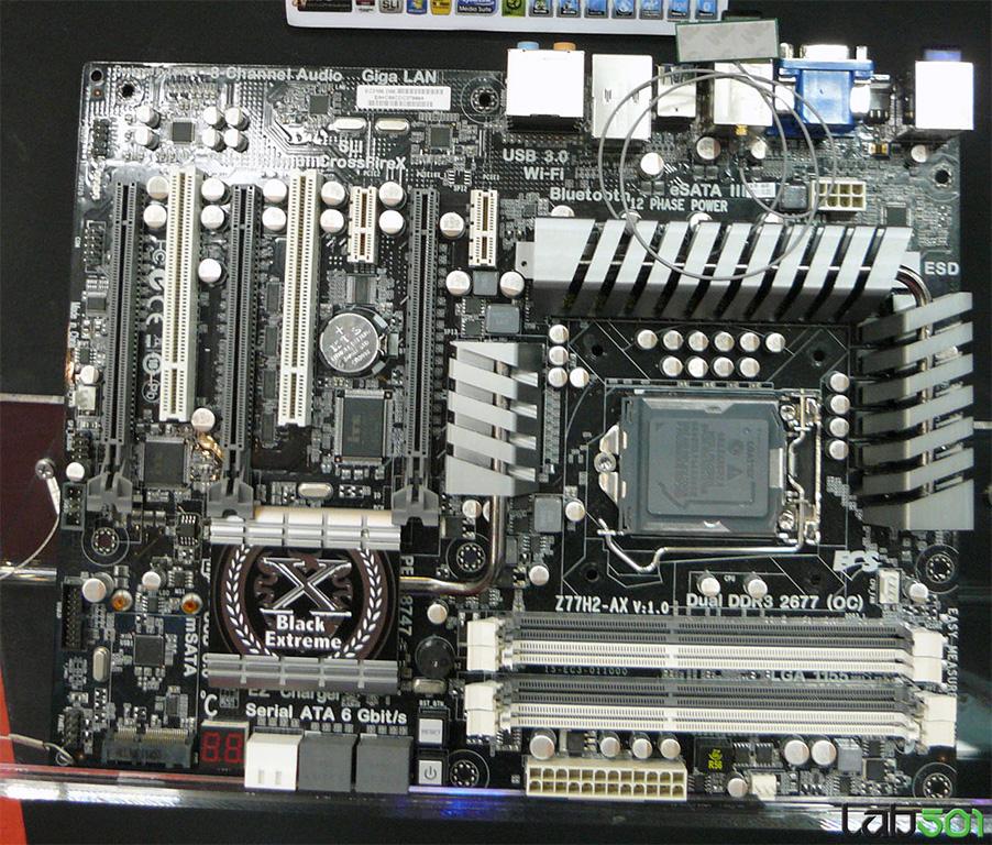 CeBIT 2012: ECS Presents Intel Z77 Black Extreme