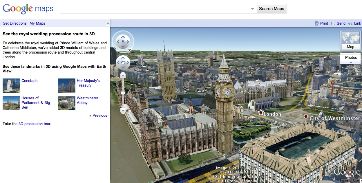 Check Out The Royal Wedding Procession In Google Maps With 3d Models
