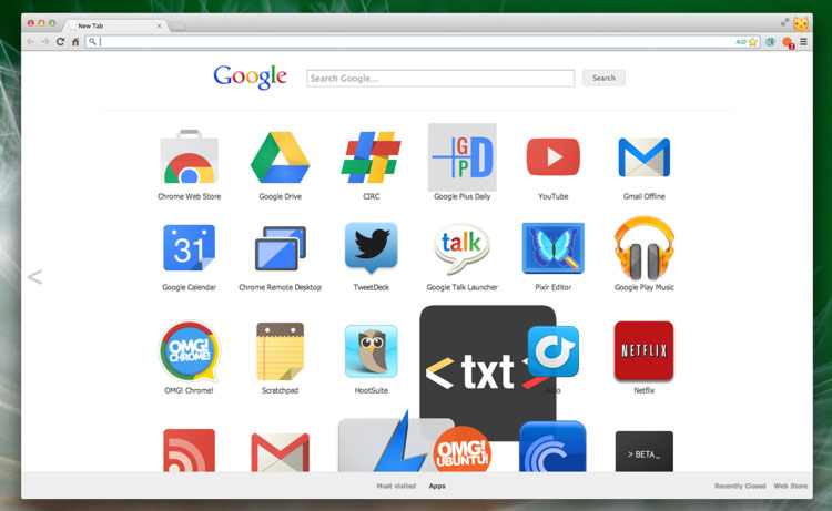 Chrome Dev Gets an Experimental New Tab Page with Google