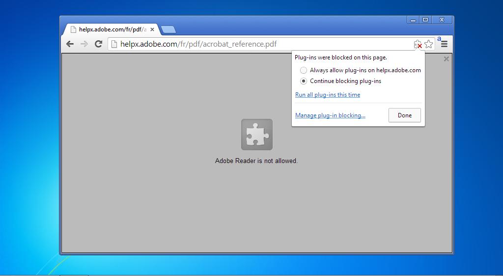 Adobe Reader Chrome
