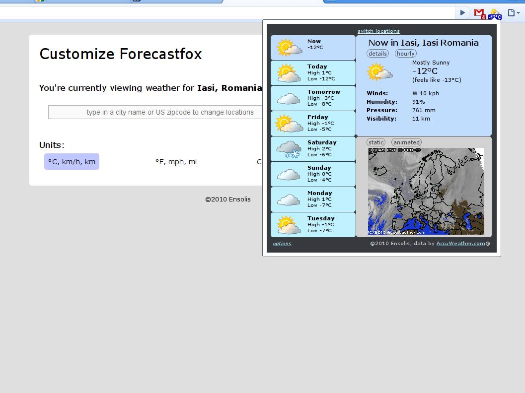 forecastfox chrome