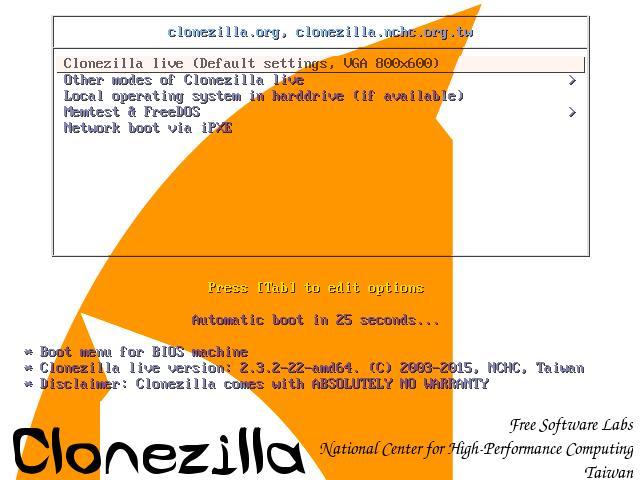 clonezilla linux