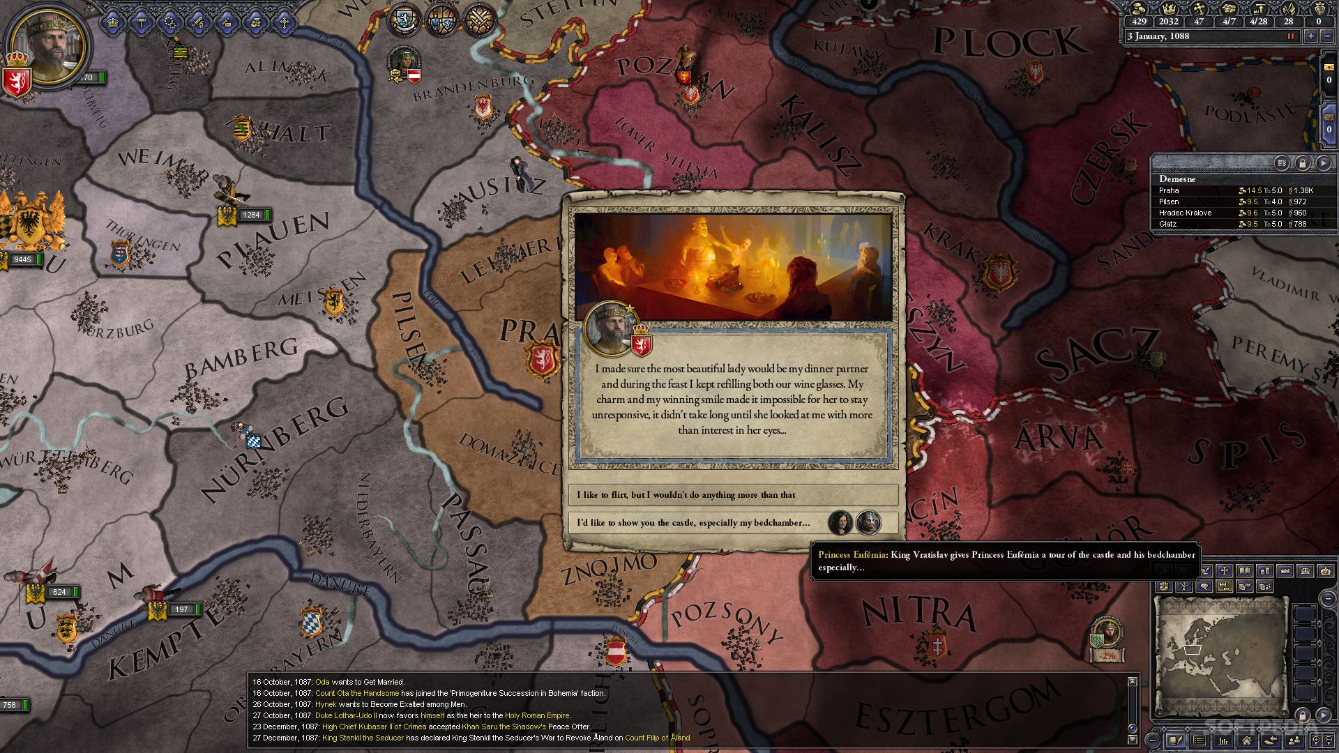 Crusader Kings II Patch 2 3 1 Is Live, Seduction Focus Problems Fixed