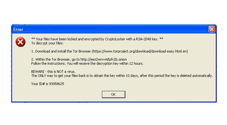 cryptolocker variant found with weak encryption