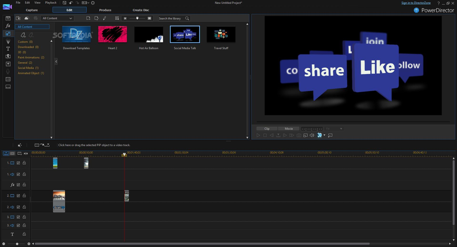 Cyberlink powerdirector 13 review create movies with for Powerdirector slideshow templates download