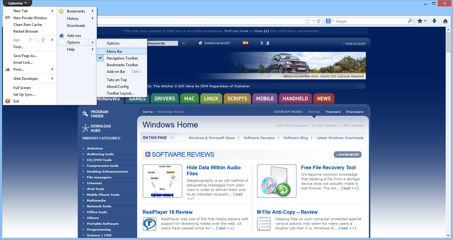 Cyberfox 29 0 1 64-bit Firefox-Based Browser Now Available for Download