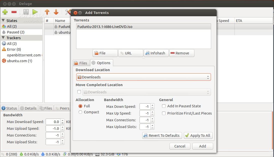 Deluge 1 3 6 BitTorrent Client Review