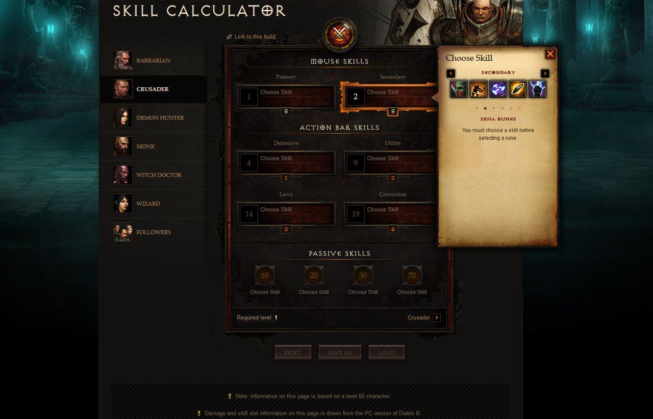Diablo Crusader Skill Builds