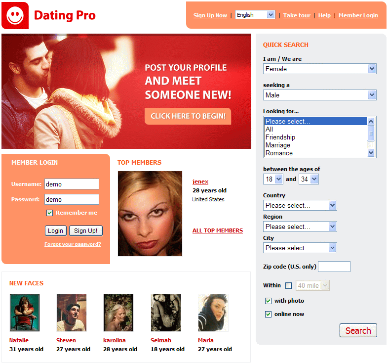 old dating site for free