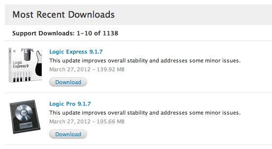 Download Apple's New Logic Pro / Express 9 1 7