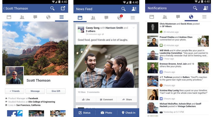 Download Facebook for Android 10 with Ability to Like Posts