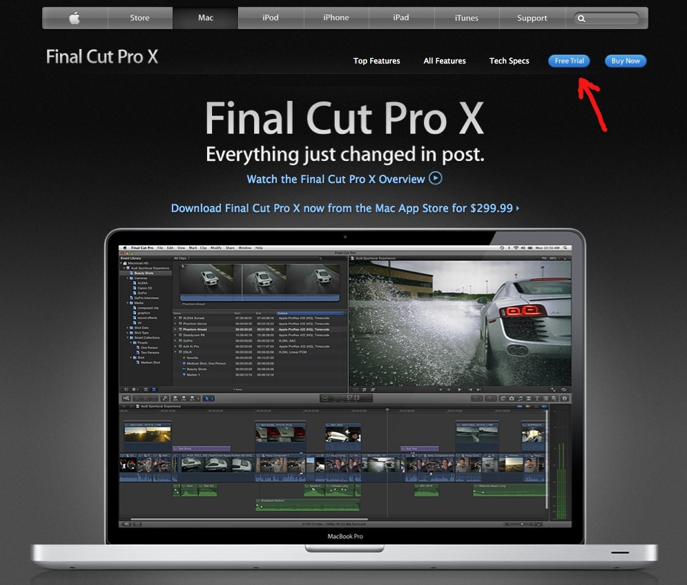 final cut pro x free windows