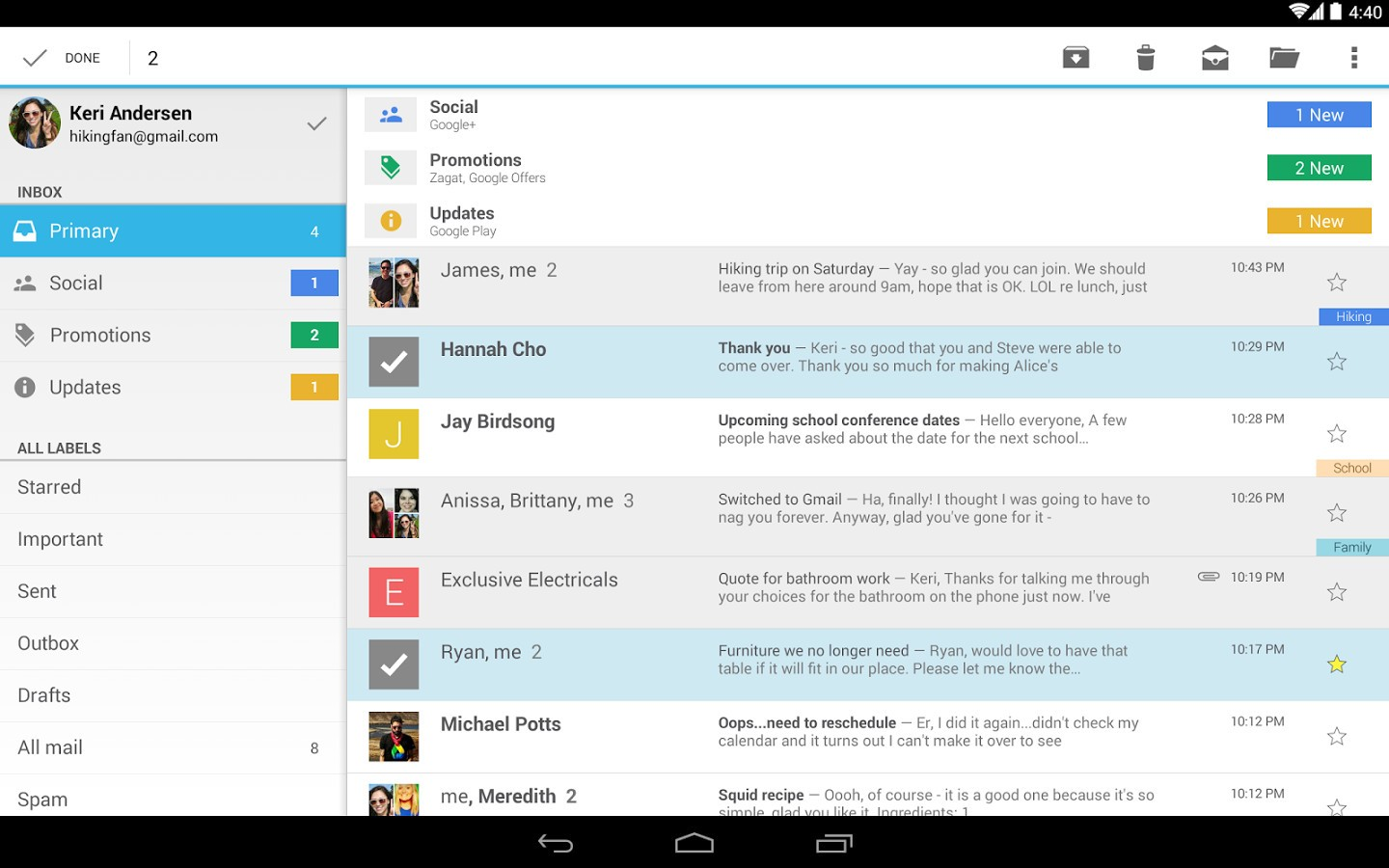 Download Gmail for Android 4 9 Now with Google Drive File
