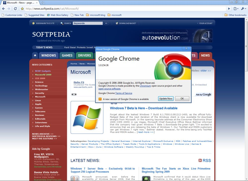 Download Google Chrome 2 0 Pre-Beta