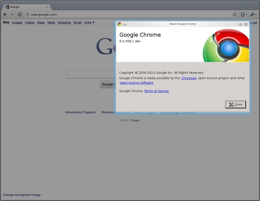 Download Google Chrome 6.0.458.1