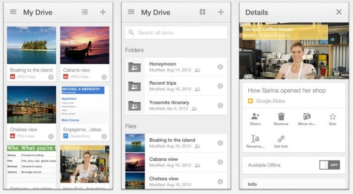 how to upload a screenshot to google drive