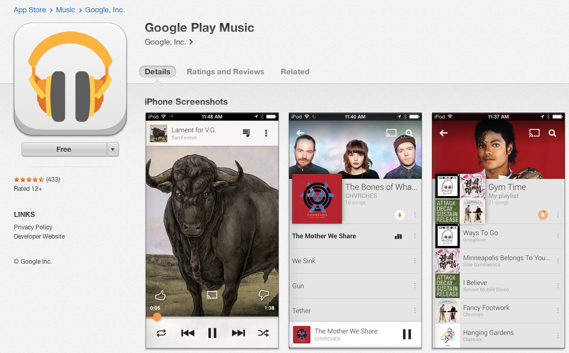 Google Play Music Officially Released on iOS – Free Download