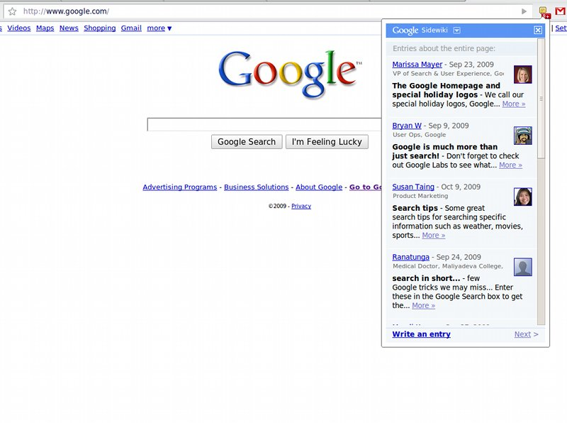Download Google Sidewiki for Chrome