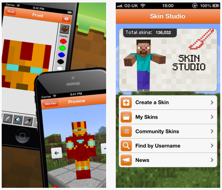 Download Minecraft Skin Studio IOS - Skins para minecraft 1 8