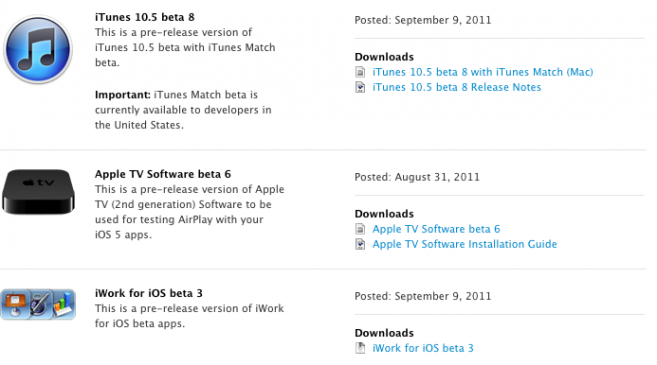 Download New iTunes 10 5, iWork for iOS, Apple TV Software