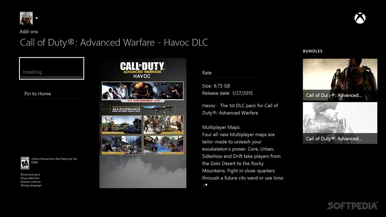 dlc call of duty advanced warfare xbox 360 download