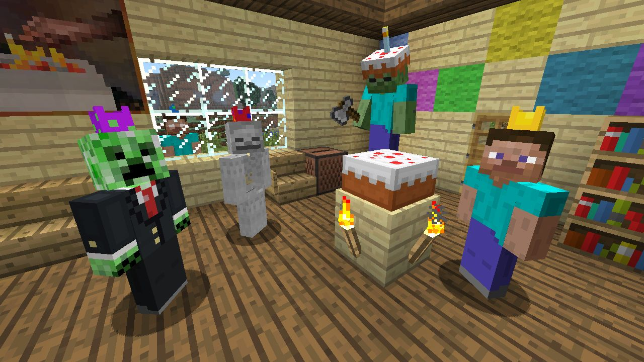 Download Now Free Birthday Skin Pack For Minecraft On Xbox Via - Skins gratis minecraft xbox 360