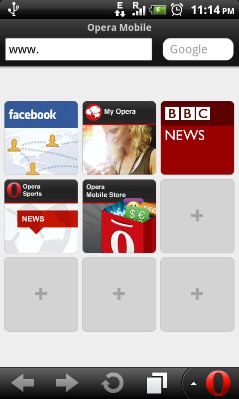 Download Opera Mobile 11 1 Silent Update 1 for Android Now