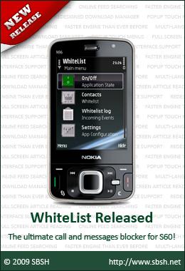 Download SBSH WhiteList 1 0 for Symbian S60